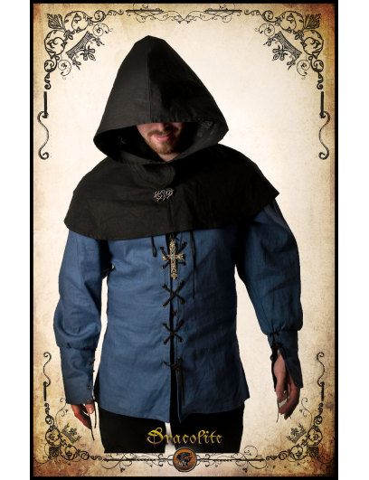 Thief Hood clothing LARP role playing game costume and ...