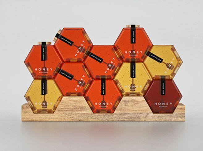 Concepto de empaque para miel de trébol. | Los 25 diseños de empaque más geniales del 2013