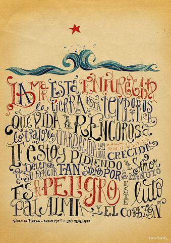 Poema de Violeta Parra.
