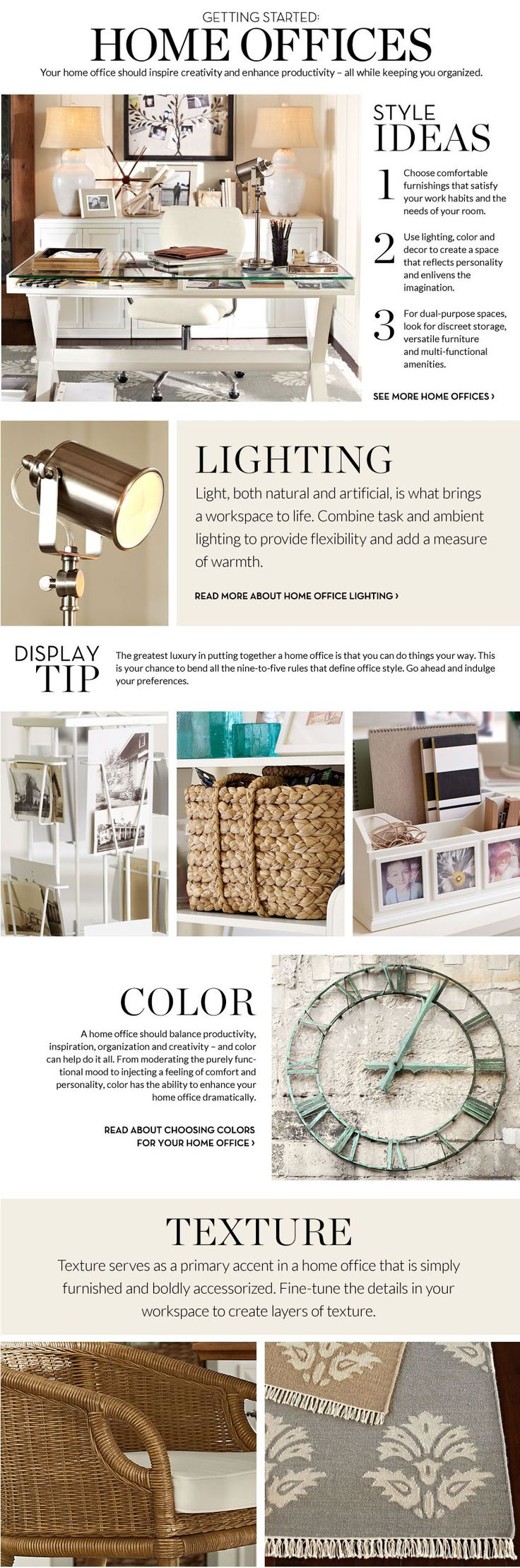 Home Office Decorating Ideas & Decorating Home Office | Pottery Barn