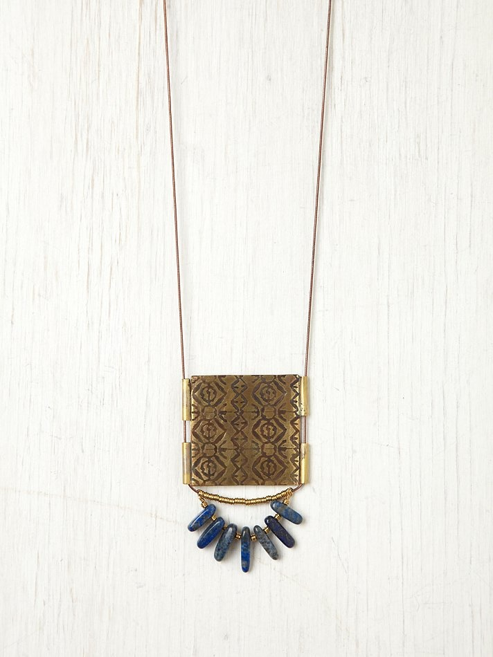 Free People Disc and Bead Necklace