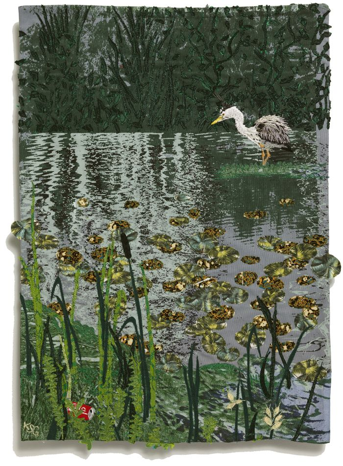 Kirsty Griffin Textile Art - Good Morning Mr Heron