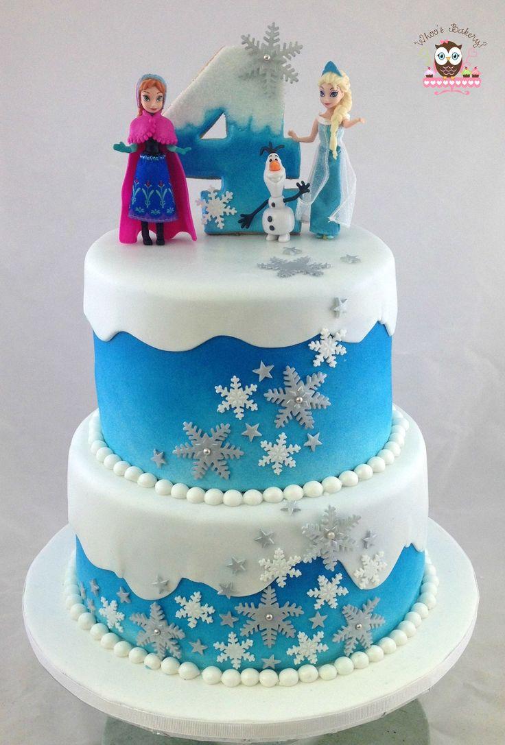 Frozen Cake Ana Cake Elsa Cake Olaf Cake Snowflake
