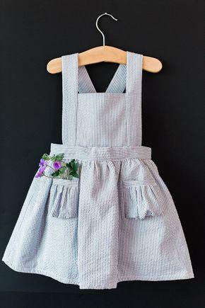 Ayla Kleinkind Pinafore Dress Vintage Mädchen von blytheandreese