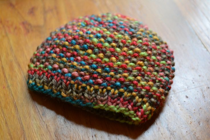 Seed stitch with variegated yarn