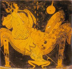 Zeus, Father of the gods, visited Semele…in the form of a thunderstorm; and she gave birth to the great saviour and deliverer Dionysus. Zeus, again, Danae impregnated by Zeus as a golden shower. Greek Red Figure ware, c. 5th cent. BCE impregnated Danae in a shower of gold; and the child was Perseus… ---DM Murdock