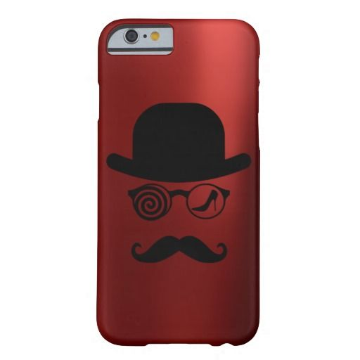Londoner Wolf Hat Womanizer Heels Mustache Red Barely There iPhone 6 Case