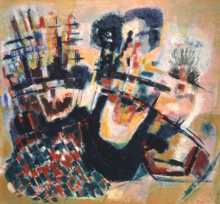 Renato Birolli - Incendio alle Cinque Terre, 1962, oil on canvas, 122 x 114 cm