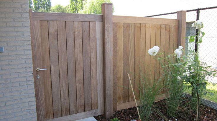 Afbeeldingsresultaat voor houten poort+afsluiting