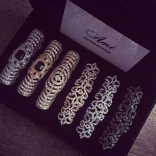 the ones on the right.......Full finger rings