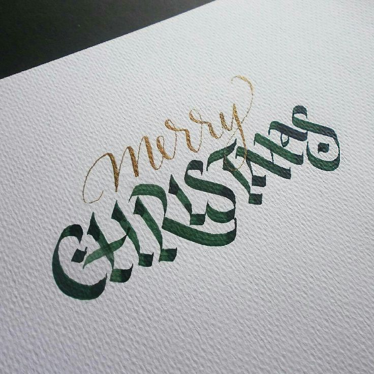 Merry Christmas // Calligraphy by @edwardnonay