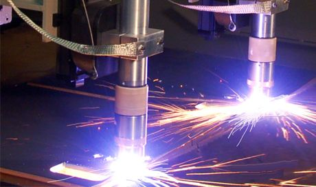 The plasma cutting process, as used in the cutting of electrically conductive metals, utilizes this electrically conductive gas to transfer energy from an electrical power source through a plasma cutter torch to the material being cut. messer-cs.com