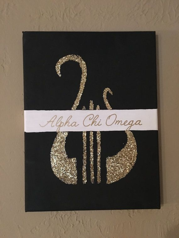 Alpha Chi Omega Canvas Or custom house/ colors by AEMCraftsDesigns