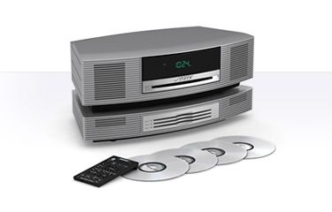 Bose Wave Sound System with Multi CD Changer. Great sound, small size, remote control, battery backup. Integrates with TV and other music players like iPods. A great, compact system with amazing sound.