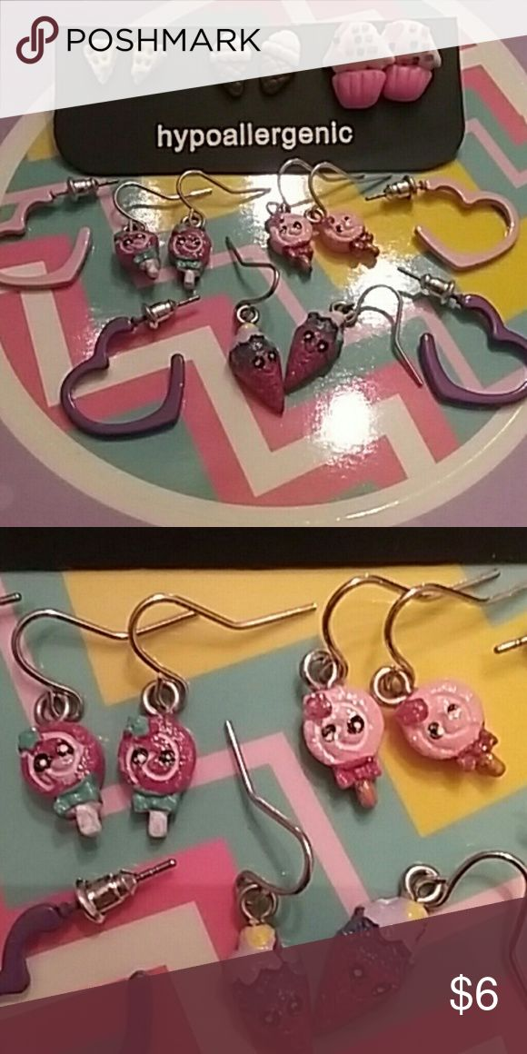 Earring Bundle Candy Shop   Kids Earring Bundle   This set includes 8 pairs of brand new earrings .  Hypo-Allergenic Accessories Jewelry