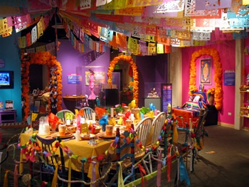 a Day of the Dead altar in Longmont, CO