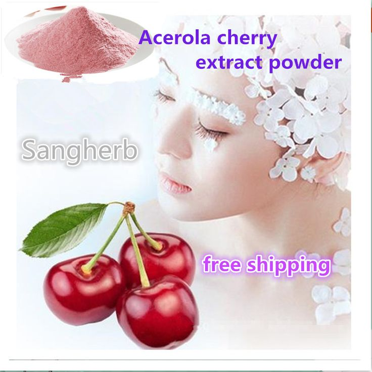Pure Natural Acerola cherry extract powder high centent Vitamin C for Antioxidant&Skin whitening 1kg free shipping