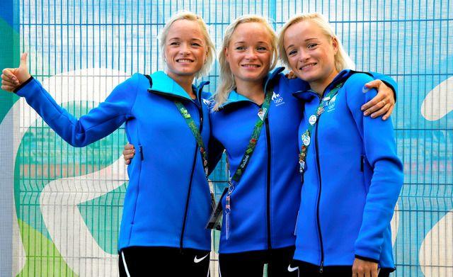 顔はそっくり。身長も体重もほぼ同じ。史上初めて、三つ子がそろって五輪に参加する。エストニア代表としてマラソン女子に出る、レイラ、リナ、リリーのルイク3姉妹 2016リオオリンピック(リオ五輪):朝日新聞デジタル