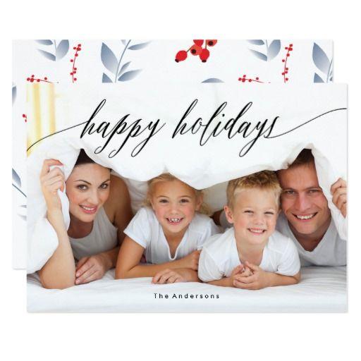 Happy Holiday Beautiful White Christmas Photo Card #phrosnerasdesign #holidaycards #photocards #holidayphotocards #christmascards #merrychristmas #merry #christmas #zazzle #zazzlecards #greetingcards #zazzlephotocards #zazzleholiday #zazzleholidaycards #zazzlechristmas #blackfriday #cybermonday