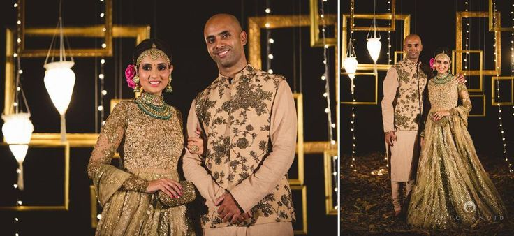 We do not see much of bling here. The Groom made a wise decision to go subtle and not co-ordinated. Thumbs up for the groom!