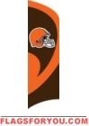 Browns Tall Team Flag 8.5' x 2.5'
