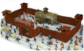 Fort Apache play set - i still have this, box is pretty beat up, but son was able to build the fort. (sure not like the toys now!)