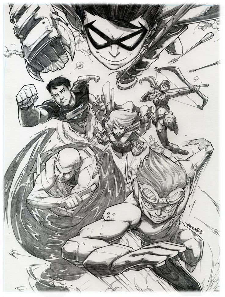 Young Justice :pencils: by *emmshin on deviantART