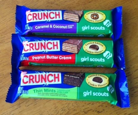 *Limited Time Only* Nestle Crunch Bars in Girl Scout Cookies Flavors #cbias #GSCrunch #shop