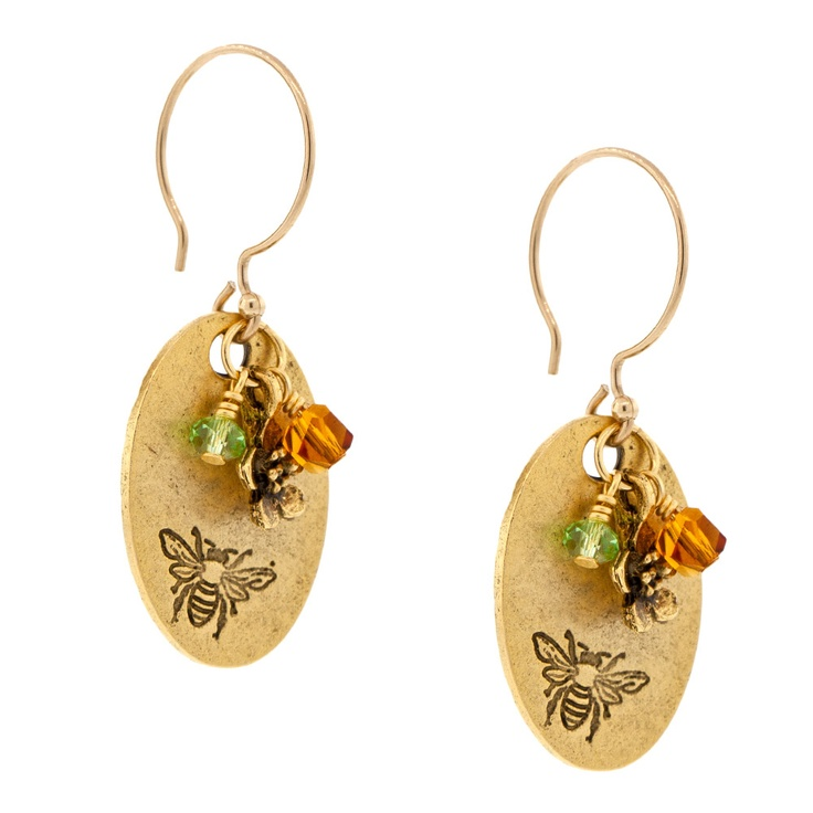 Spring Bee Earrings | Fusion Beads Inspiration Gallery