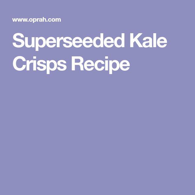 Superseeded Kale Crisps Recipe