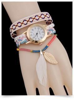 2016 new punk bracelet women dress watches women quartz watch fashion female-hour clock Relogio Feminino AC116 leather weaving