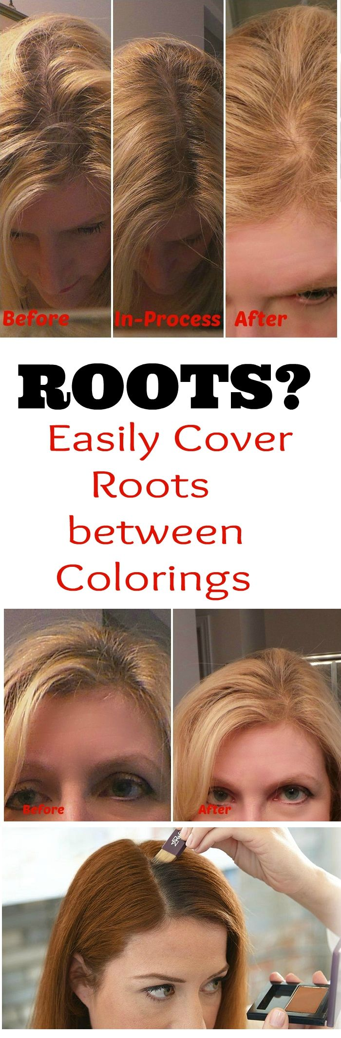 EEK! ROOTS? Get Color all the Way to the Roots with Madison Reed Root Touch Up Powder. Get #touchupforhair with #MadisonReed NEW Root Touch Up Also at #sephora AD
