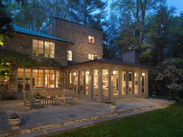 Sunroom and Mudroom Additions With New Kitchen - eclectic - exterior - philadelphia - Krieger + Associates Architects Inc