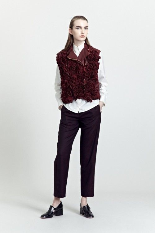 Siloa & Mook AW13: Ruvsa Vest, Gutnel Shirt, Gunna Trouser.  #siloamook #fashionflashfinland #fashion #fashiondesigner #designer #aw13 #collection #Finland #Helsinki
