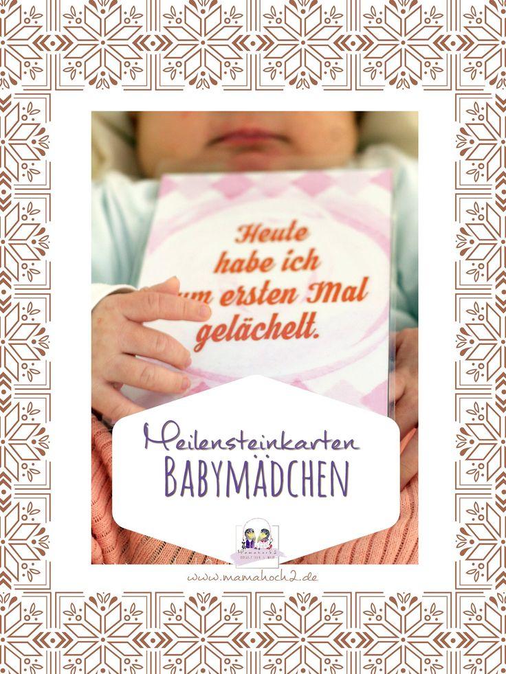 Baby Meilensteinkarten für Mädchen.  In der Datei enthalten: 49 Karten als Printables (zum selber drucken)  Größe: druckbar in A4, A5 und A6 (Postkartengröße)  Via Paypalzahlung stehen dir die Karten sofort zum Download bereit ;-)