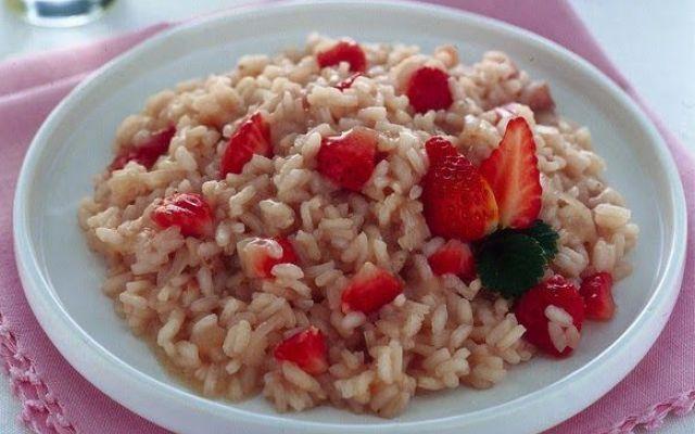 .....Le ricette di Valentina: Risotto alle fragole..... #fragole #risotto #ricette
