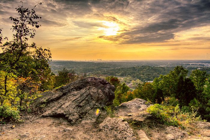2. Ruffner Mountain (Ruffner Mountain Nature Preserve)  - Birmingham, Alabama