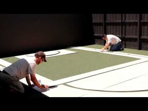 Suburban Line Marking - Home Basketball Court - YouTube