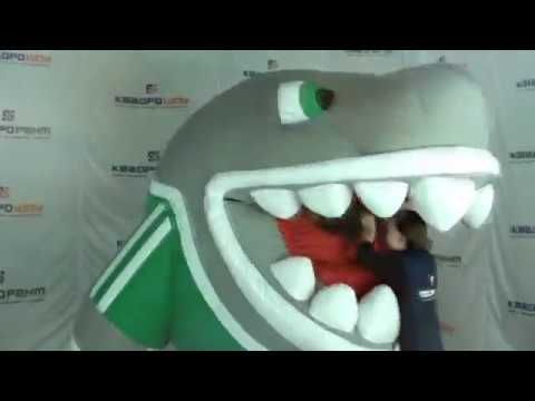Inflatable Shark Eating - YouTube