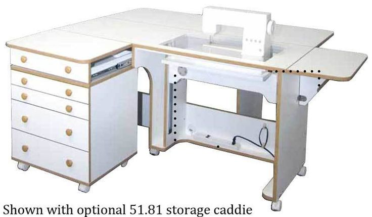 $1799 w/airlift, $2169 w/caddie (shpg incl) . Horn 5280 Super Quilter's Dream Sewing Machine Cabinet. With Electric Lift $2459. at SewVacDirect (TX).Made in USA.