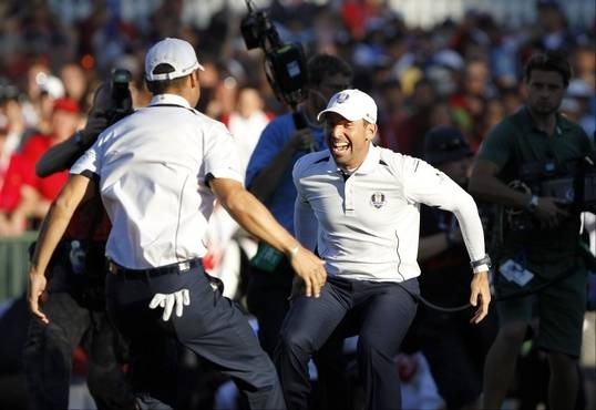 The European Ryder Cup team came into Sunday trailing the US 10 - 6. They staged an historic 14 1/2 to 13 1/2 comeback to retain the Ryder Cup for another two years.