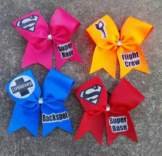 Cheer bows for your stunt group pick your by CurlyNoodleCreations