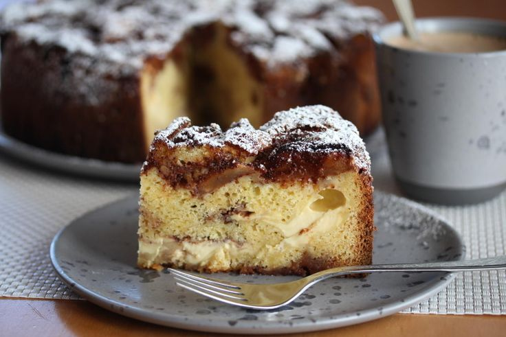 Eplekake med krydder og vaniljekrem