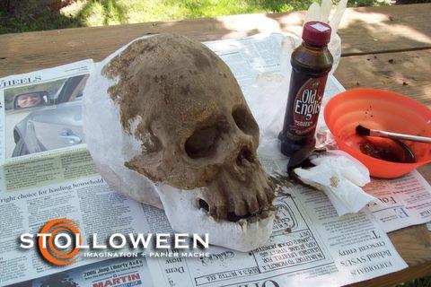 Make Your Own Paper Mache skull