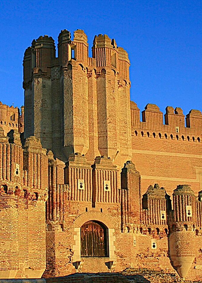 Castillo de Coca . Segovia Spain