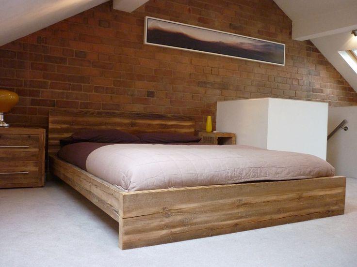 Qube Wood Bed with Low End #eatsleeplive #reclaimedwood #bedroom