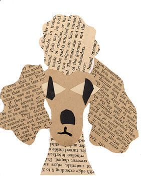 Poodle made from recycled books