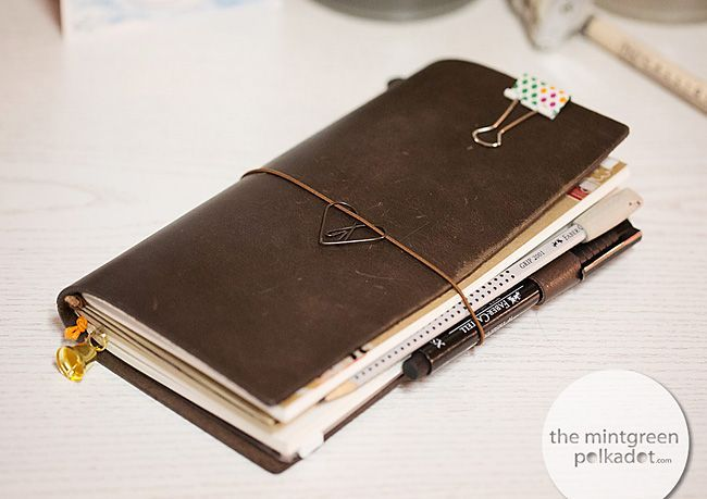 The Mintgreen Polkadot   Planner Peace My new Midori Travelers Notebook …   http://themintgreenpolkadot.com