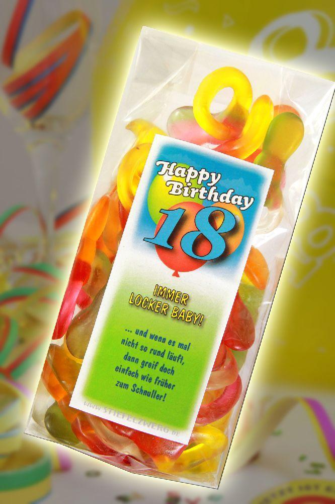 Immer locker schnuller zum 18 geburtstag gefeiert und - Pinterest 18 geburtstag ...