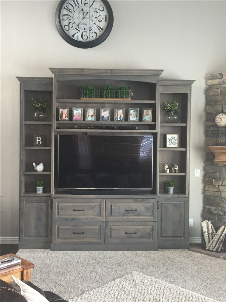 Stansbury Grey Stain On Clear Alder Entertainment Center